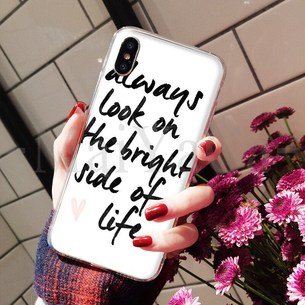 MaiYaCa Proverb Phrase Motto Good Vibes Only Hot Fashion Fun Dynamic Phone Case For IPhone 8 7 6 6S Plus X XS Max 5 5S SE XR