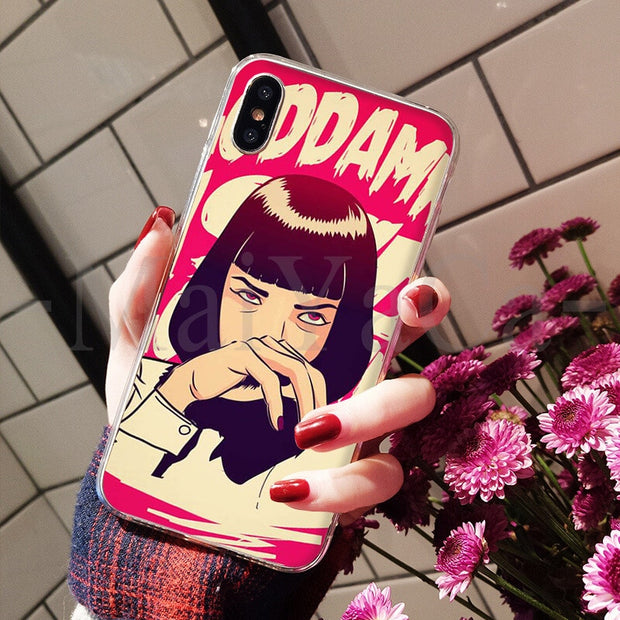 MaiYaCa Pulp Fiction Move Poster Adorable Colored Drawing Back Phone Cover For Apple IPhone 8 7 6 6S Plus X XS Max 5 5S SE XR
