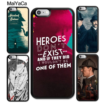 MaiYaCa Sherlock Holmes Quotes Printed Soft Rubber Mobile Phone Case For IPhone 6 6S 7 Plus 8 X XR XS MAX 5S SE Back Cover Shell