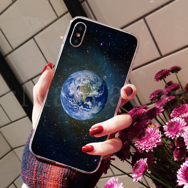 MaiYaCa Space Star Planet Luxury High-end Phone Accessories Case For Apple IPhone 8 7 6 6S Plus X XS Max 5 5S SE XR Mobile Cover