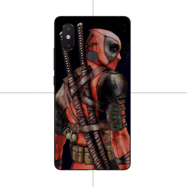 MaiYaCa Super Cool Marvel Deadpool Rubber Phone Case Cover For Xiaomi Redmi 5plus 5 Note5 Mi8 Mi6 Max2 Max3 4X Mi6