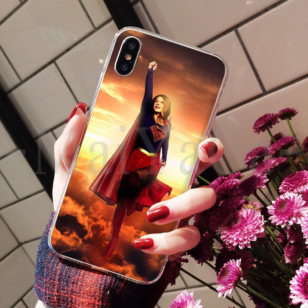 MaiYaCa Super Girl Movie Supergirl DIY Painted Beautiful Phone Accessories Case For IPhone 8 7 6 6S Plus X XS Max 5 5S SE XR