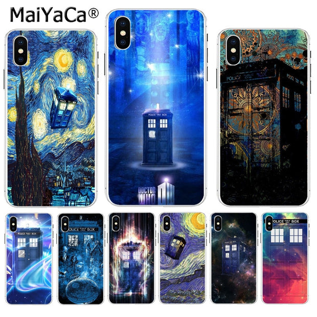 MaiYaCa Tardis Box Doctor Who New Arrival Phone Ultrathin Case For Apple IPhone 8 7 6 6S Plus X XS Max 5 5S SE XR Cover