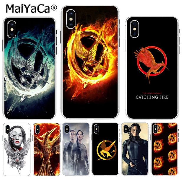 MaiYaCa The Hunger Games Movie Logo Luxury Quality Phone Case For Apple IPhone 8 7 6 6S Plus X XS Max 5 5S SE XR Cover