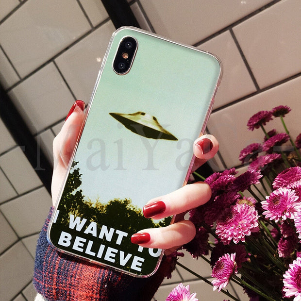 MaiYaCa The X Files I Want To Believe Amazing Landscape Phone Case For Apple IPhone 8 7 6 6S Plus X XS Max 5 5S SE XR Cover