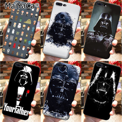 MaiYaCa Top Detailed Popular Silicone Phone Case STAR WARS COMIC DARTH VADER YODA Darth VadeR Design For IPhone 7 8 Plus Case