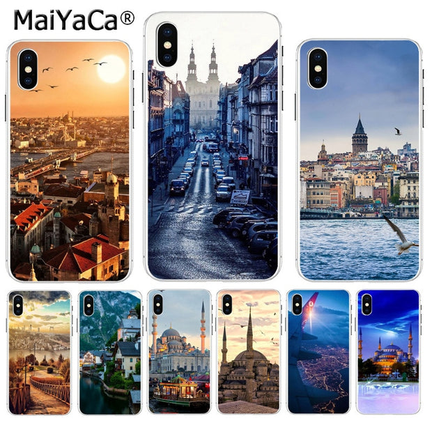 MaiYaCa Turkey Istanbul Sceneary Building Classic Image Paintings Cover Phone For IPhone 8 7 6 6S Plus X XS Max 10 5 5S SE XR
