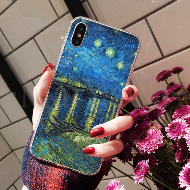 MaiYaCa Van Gogh Pattern Sunflower Soft TPU Silicone Luxury Phone Cover For IPhone 8 7 6 6S Plus X XS Max 10 5 5S SE XR