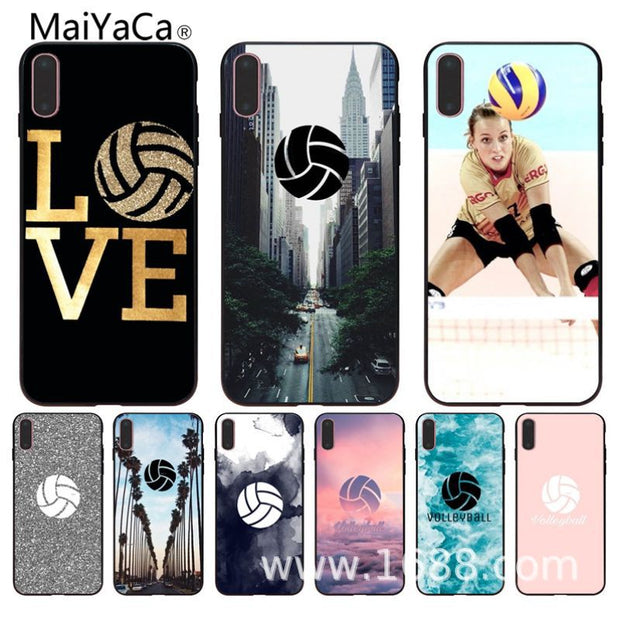 MaiYaCa Volleyball Sports TPU Soft Rubber Case Cover For Iphone 5 5s 5c SE 6s 7 8plus 8 X Phone Case