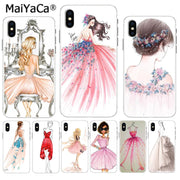 MaiYaCa Wedding Dress Girl Soft TPU Silicone Phone Case Accessories Cover For IPhone 8 7 6 6S Plus X XS Max 10 5 5S SE XR