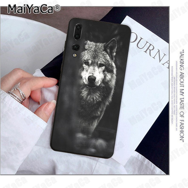 MaiYaCa Wolf Top Design Phone Case For Huawei P9 10 Plus 20 Pro Mate9 10 Lite Honor 10 View10 Mobile Cover