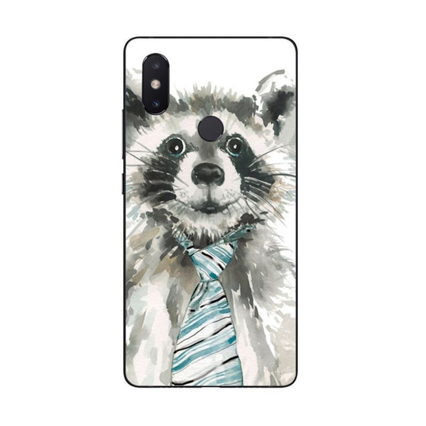 MaiYaCa Fashion Raccoon Art Print For Redmi Note 5 2 3 Phone Case Shell For Xiaomi Mi Note2 3 Redmi 5 5plus Mote5