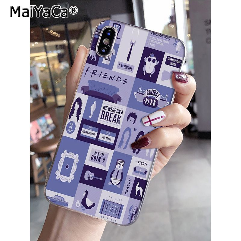 MaiYaCa Friends Tv Purple Door Luxury High-end Phone Accessories Case For  IPhone8 7 6 6S Plus X XS Max 10 5 5S SE XR Coque Shell