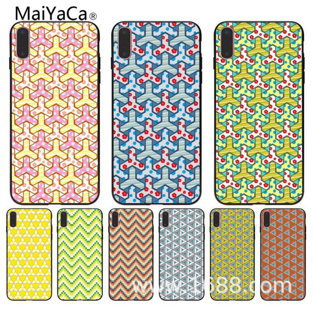 MaiYaCa Geometry For Iphone 6s Plus Case Soft Silicone TPU Phone Cases For Iphone 5 5s 5c SE 6splus 7 8plus 8 X Case Cover