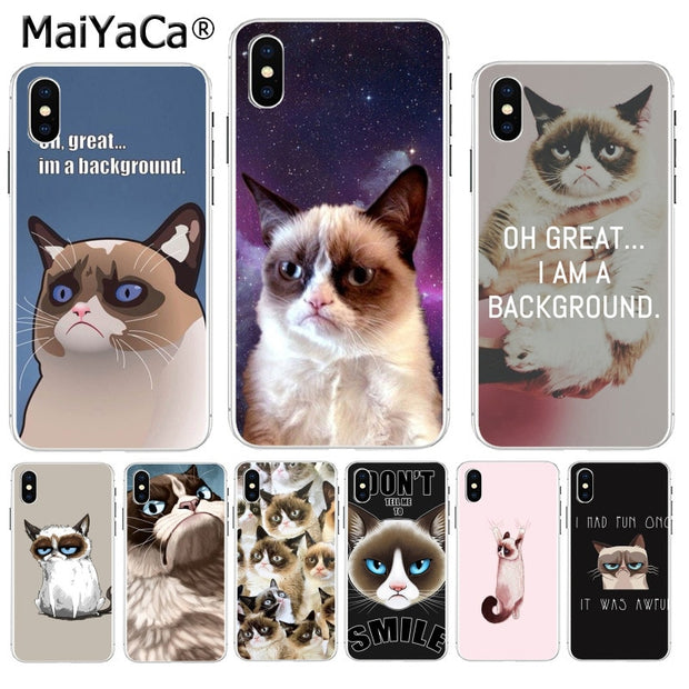MaiYaCa grumpy cat meme Lovely lovely Phone Accessories Case for iPhone 8 7 6 6S Plus 620x
