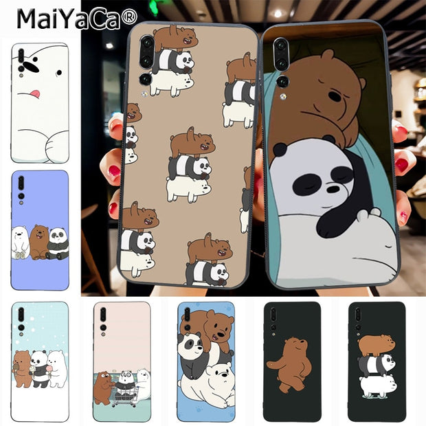 more photos d0d74 a1645 Maiyaca Cartoon We Bare Bears Miniso Top Detailed Popular Phone Case For  Huawei P20 P20 Pro Honor9 Mate10 Case Cover