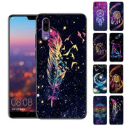 Mandala Printed Customs Design Soft Black Silicone Case For Huawei P20 Lite P30 Pro P Smart 2019 Plus P10 Anti-Scratch TPU Cover