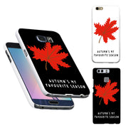 Maple Leaf Print Back Phone Case For Huawei P9 For IPhone 7 8 For Samsung Galaxy S7 S8