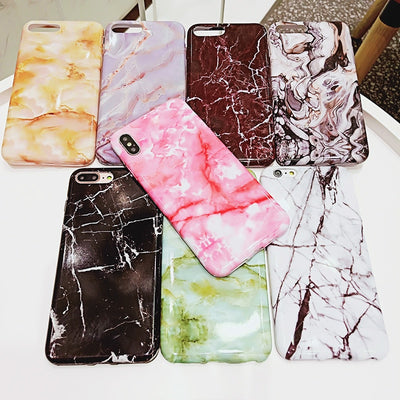 Marble Phone Cases For Samsung J4 J6 J8 2018 Glossy Soft Silicon Cover Fundas For Samsung J2 J5 J7 Pro J5 J7 Prime Capa Hoesjes