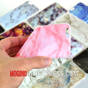 Marble Stone Grain TPU Phone Case Cover For IPhone 5 5S SE 6 6s 7 8 6 Plus 6s Plus 7Plus 8Plus