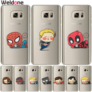 Marvel Avengers Case For Samsung S9 Plus S7 S6 Edge S8 Plus G530 J3 J7 J5 2017 J2 Prime Deadpool Spiderman Iron Man Case Cover