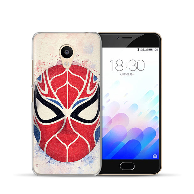 Marvel Avengers Cover Case For Meizu M5s M3s M5C M5S M5 M3 M5 M6 Note Pro6 U10 U20 Ant Iron Man Spiderman Phone Case Cover Etui