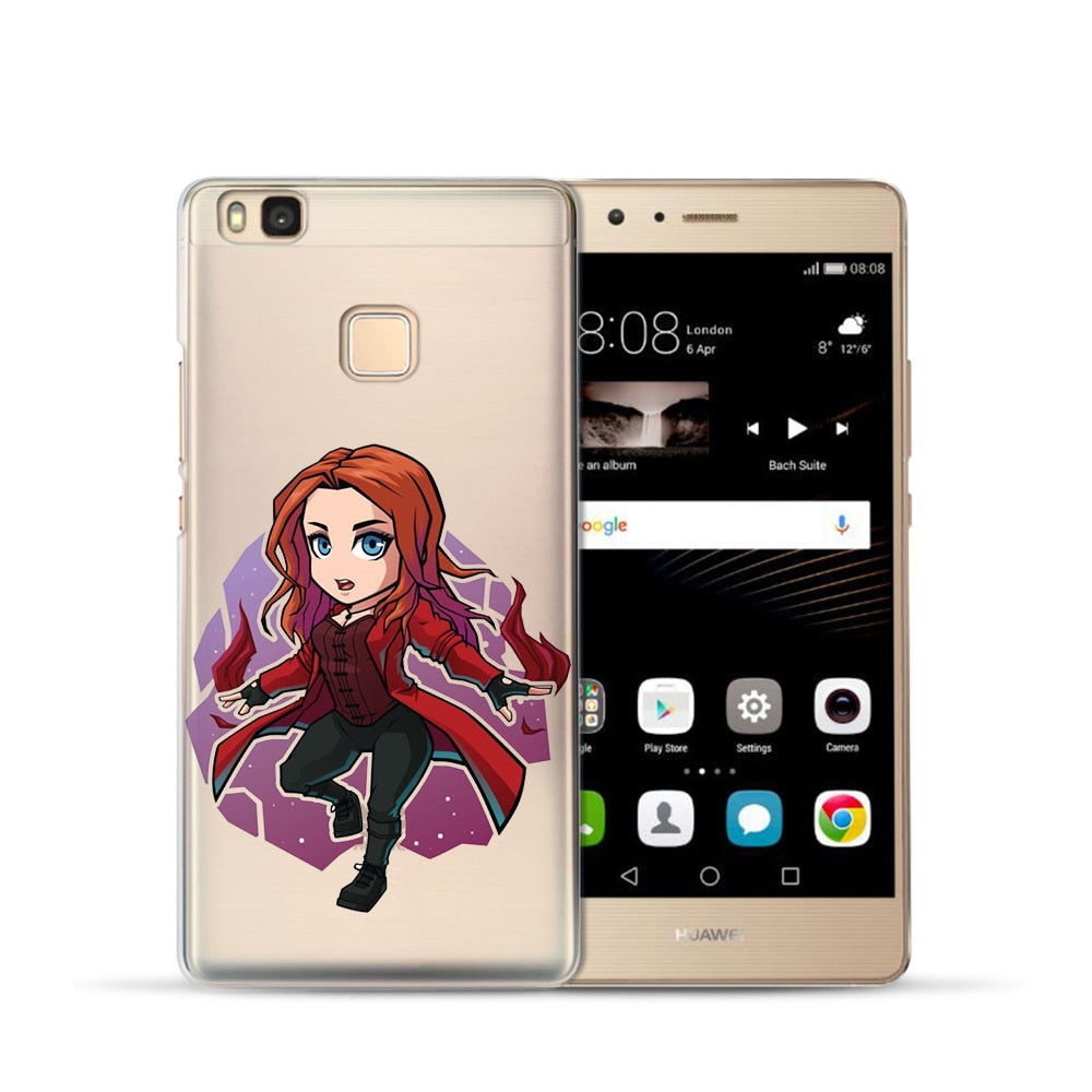 Marvel The Avengers Phone Cases For Huawei P20 Lite Pro P10 Plus P8 P9 Lite 2017 Honor 6A 6X Iron Man Spiderman Case Cover Etui