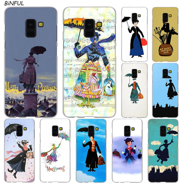 Mary Poppins Hot Fashion Transparent Case For Samsung Galaxy A3 A5 A9 A7 A6 A8 Plus 2018 2017 2016 Star A6S Note 9 8 Cover