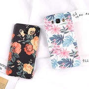 Matte Hard PC Case For Samsung Galaxy S8 S9 Plus S7 Edge Note 8 9 A8 A7 A5 A3 J7 J6 J5 2018 2019 EU Retro Flower Leaf Cover Case