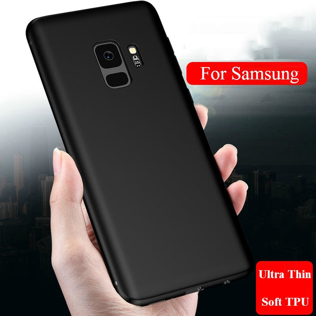 Matte Soft TPU Case For Samsung Galaxy S8 S7 Case For Samsung Galaxy Note 9 S7 Edge S8 S9 Plus Frosted Ultra Silicon Phone Cover