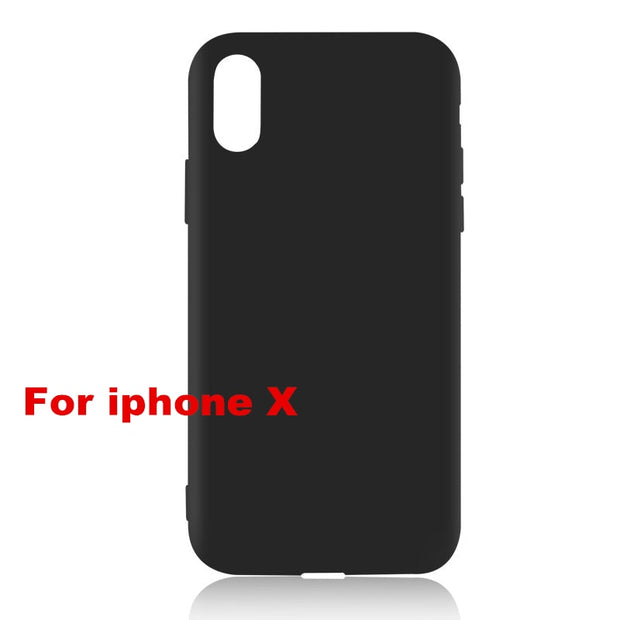 Matte Soft TPU Silicone Cases For IPhone 5 S SE X Phone Case For IPhone 6s 6 7 8 Plus XS Max XR Coque Frosted Fundas Back Cover