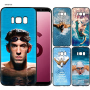 Michael Phelps Swimming Scrub Silicone Soft Cases Cover Shell Fundas For Samsung Galaxy S9 S8 Plus S7 S6 Edge S8+ S9+ S8Plus S9P