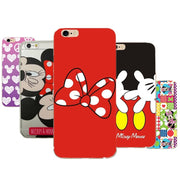 Mickey Minnie Phone Case For IPhone X 8 7 Plus TPU Cartoon Soft Back Cover For IPhone 7 6s XS 6 5 5S SE Shell Capa