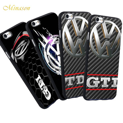 Minason Volkswagen Bus GTI TDI Capa For IPhone X 8 5 S 5S XR XS Max SE 7 Plus 6 6S VW Case Black Silicone Cover Phone Coque