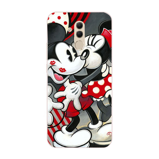 Minnie Rose Flowers Silicon Case For Huawei P20 Lite Pro Case For Huawei Mate 20 Lite Mate 10 Lite Pro Honor 7A PRO Case Cover