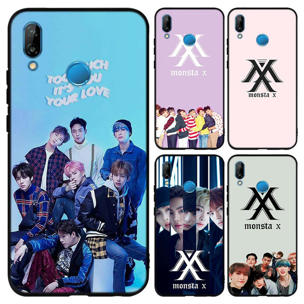 Monsta X KPOP Boy Group Soft TPU Silicone Black Cases Cover For ...