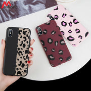 Moskado Leopard Print Phone Case For Iphone 6 6s 7 8 Plus Luxury Colorful Case For Iphone 7 6 5 5s SE X XS Max XR Soft TPU Cover