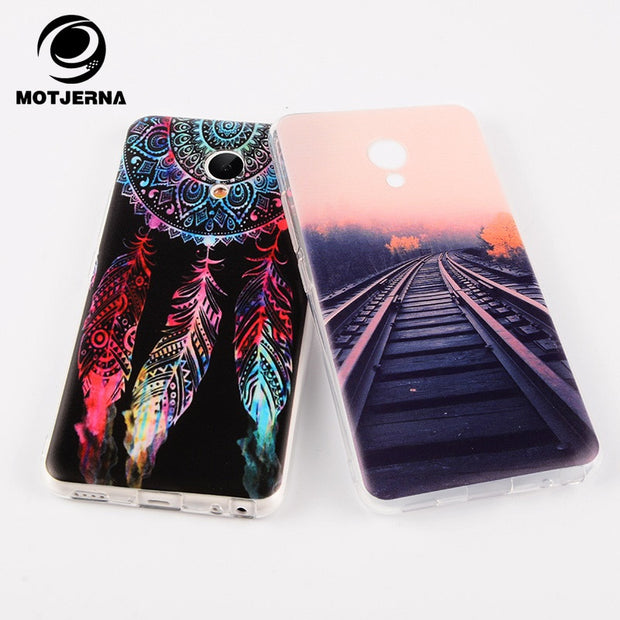 Motjerna Pattern Phone Case For Meizu M6 Note M6S M5C M5S M5 M3 Note M3S Mini Protective Back Cover For Meizu M6 Note Soft Case