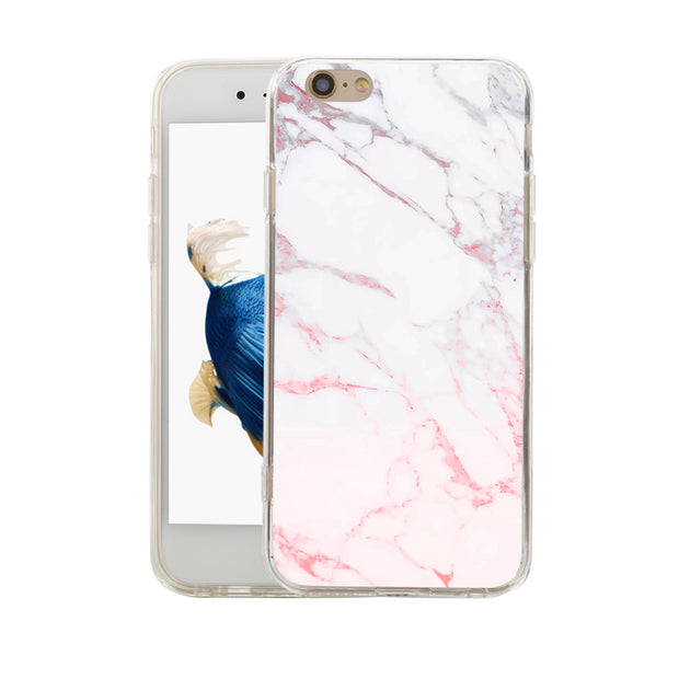 Mulitcolor Marble Texture Protective Case Cover Protector For IPhone X 7 8 Plus