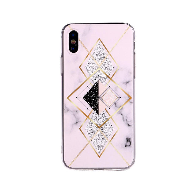 Multicolor Geometric Protective Phone Cover Unisex Cover Fashion Case Phone Back For IPhone 6sp/6P,7/8,7/8p,X,XR,XSM