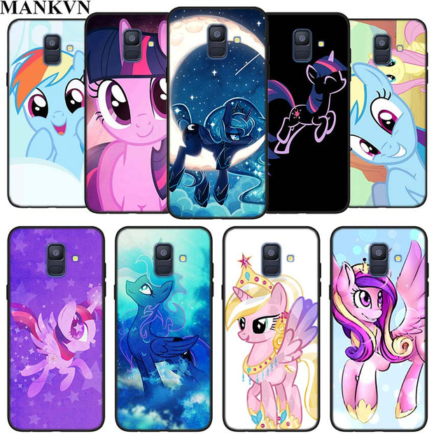 My Little Pony Friendship Silicone Phone Case For Samsung Galaxy A6 A6+ A8 A8+ 2018 A8 A9 Star Lite Soft Black Coque Fundas