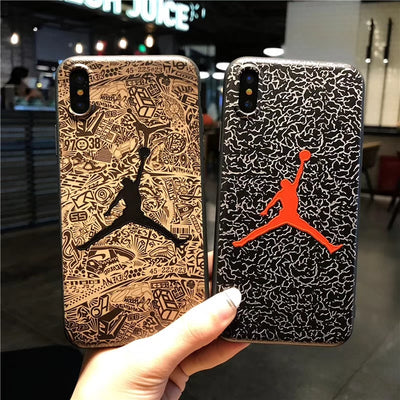 NBA Jordan Back Cover Case For Iphone X Case Nba Basketball Star Coke Phone Shell For Iphone 6 6s 7 8 Plus Soft Silicone Cases 5