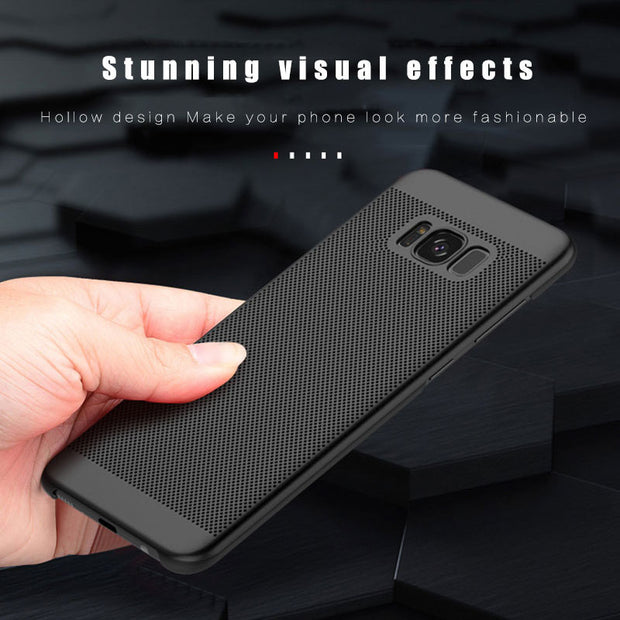 NCSW Cooling Hole Phone Case For Samsung Note 9 J8 J7 J3 J6 J4 A9 A8 A6 A6plus 2018 J7DUO Heat Dissipation PC Back Cover Capa