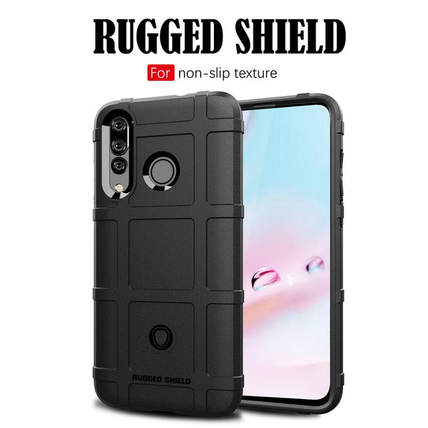 NOWAL Rugged Shield Square Grid Phone Case For Huawei Mate 20 X 10 P20 Pro Honor V20 8X 10 Lite NOVA 4 3 3i Y9 2019 Silicon Case