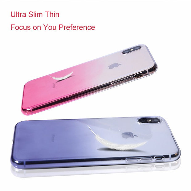 Nephy For IPhone 6 6S IPhone 7 8 Plus Ultra Thin Cases For IPhone X XS Max XR Clear TPU Phone Cases For IPhone 5S 5 SE XS Fundas