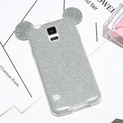 Nephy Phone Case For Samsung Galaxy S5 S6 S7 Edge S8 S9 Plus A3 A5 J5 J7 2015 2016 2017 Cover Glitter Color Cute Ears Housing