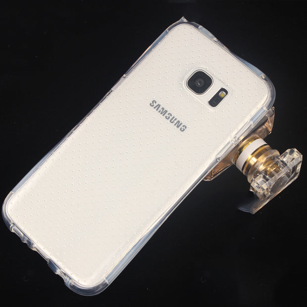 New Air Cushion Anti Knock Clear Crystal TPU Soft Cover Case For Samsung Galaxy S7 Edge Caixa Do Telefone Movel Personality