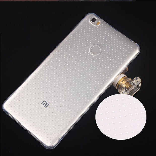 New Air Cushion Anti Knock Clear Crystal TPU Soft Cover Case For For Xiaomi Max 6.44'' Caixa Do Telefone Movel