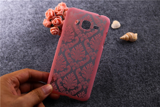 New Arrival Fashion Patterns Hollow Out Painted Flower Hard Case For Samsung Galaxy J3 J300 Case Cover For Samsung J3 Cases T007