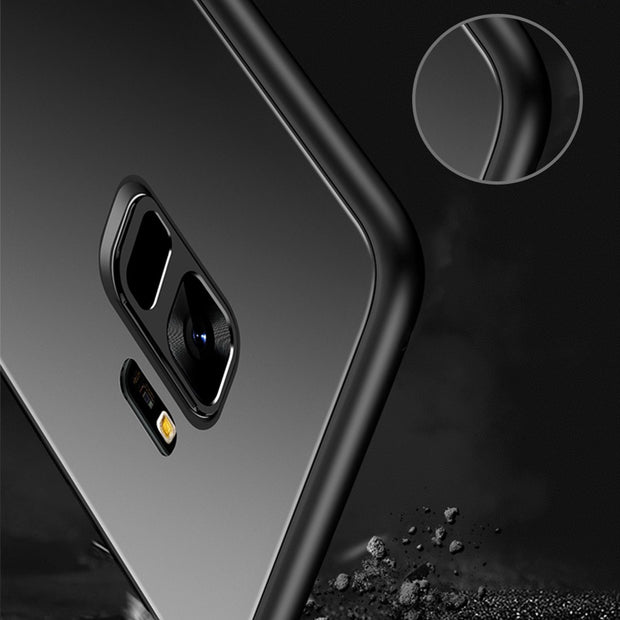 New Creative Tempered Glass All-inclusive Anti-fall Phone Case For SamaungS9 S9plus J730 J530 A5 A7 S8 S8plus Note8